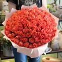 Bouquet 101 orange rose
