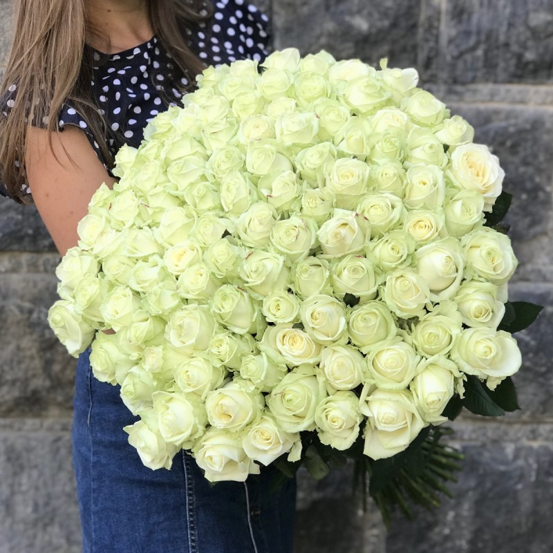 Bouquet 101 white rose