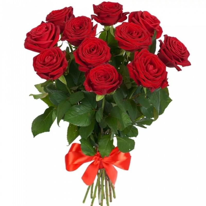 Bouquet of 11 burgundy roses Prestige