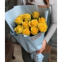 Bouquet of 11 yellow roses
