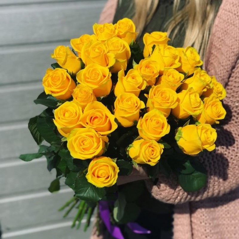 Bouquet of 25 yellow roses