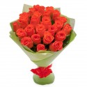 Bouquet of 25 coral roses