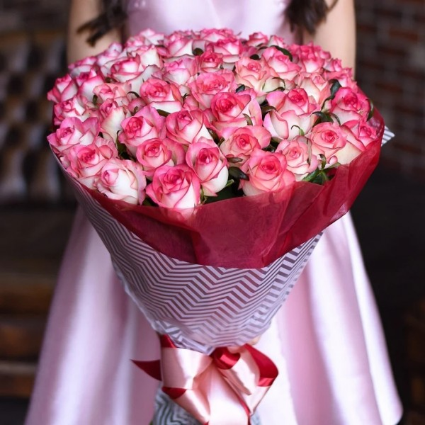Bouquet 51 pink rose jumilia