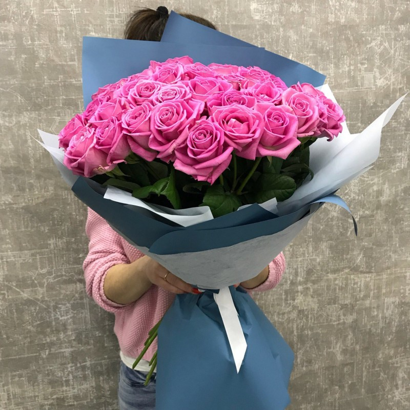 Bouquet 51 pink rose aqua