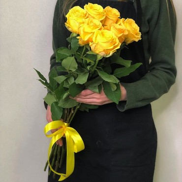Bouquet of 7 yellow roses