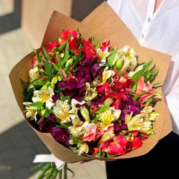Bouquet Alstroemeria mix in craft