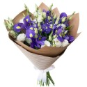 Bouquet of eustomas and irises