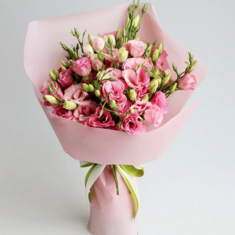 Bouquet of 15 pink e...
