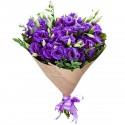 Bouquet of 15 purple eustomas