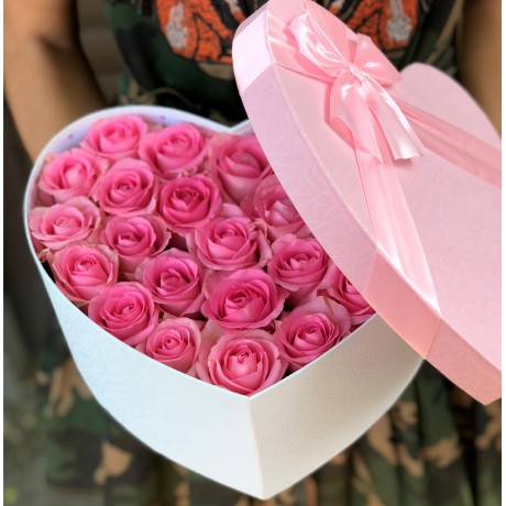 Heart box with pink ...