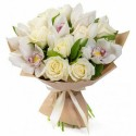 Bouquet Breath - orchids and roses
