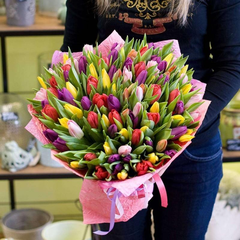 Bouquet 101 pcs. tulip mix